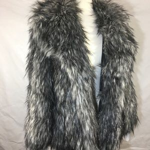NWT Michael Kors over sized raccoon fur coat